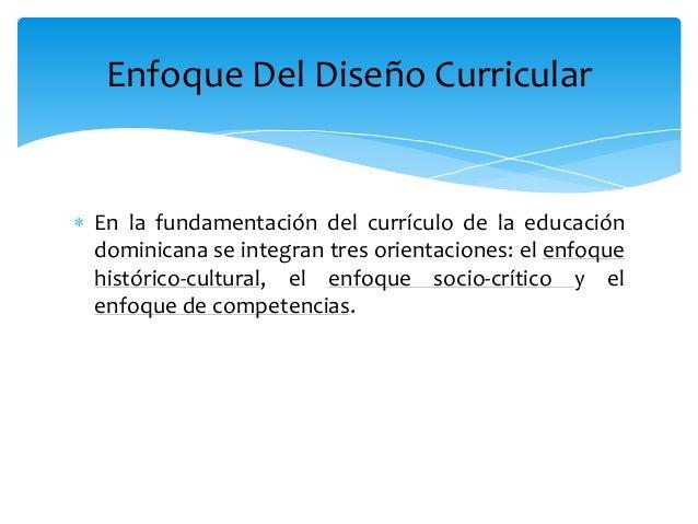 Nuevo dise o curricular dominicano for Diseno curricular educacion primaria