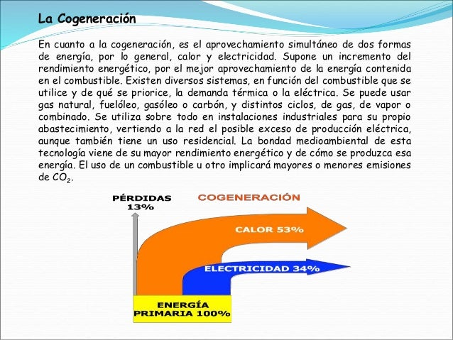 la cogeneracin