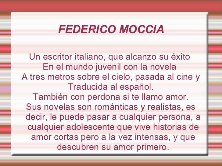 Presentacion Federico Moccia