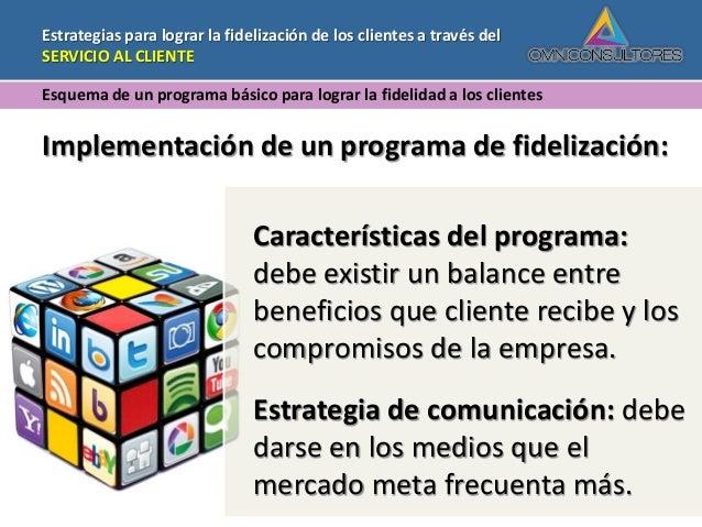 Presentacion Fidelizacion Servicio Al Cliente