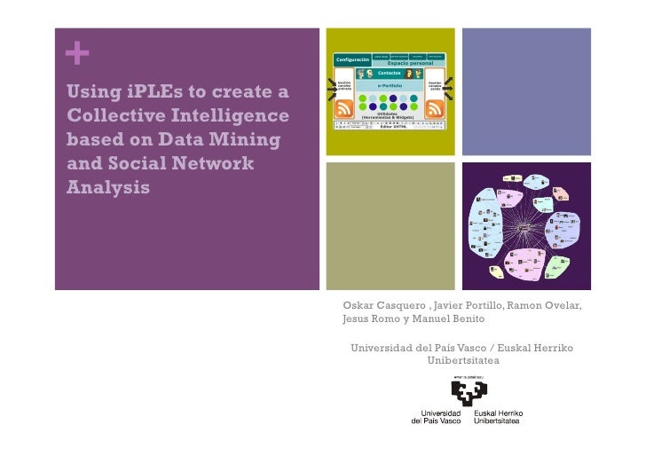 + Using iPLEs to create a Collective Intelligence based on Data Mining and Social Network Analysis                        ...