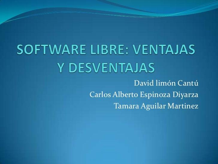 David limón CantúCarlos Alberto Espinoza Diyarza       Tamara Aguilar Martinez