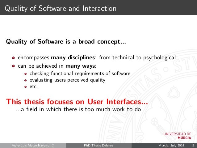 Thesis on software quality