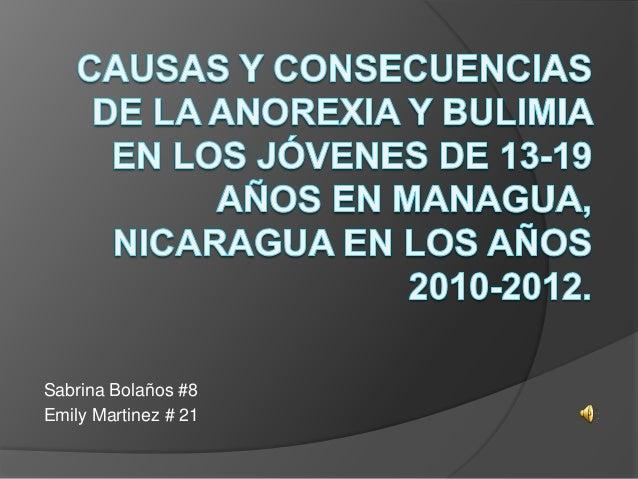 Sabrina Bolaños #8 Emily Martinez # 21