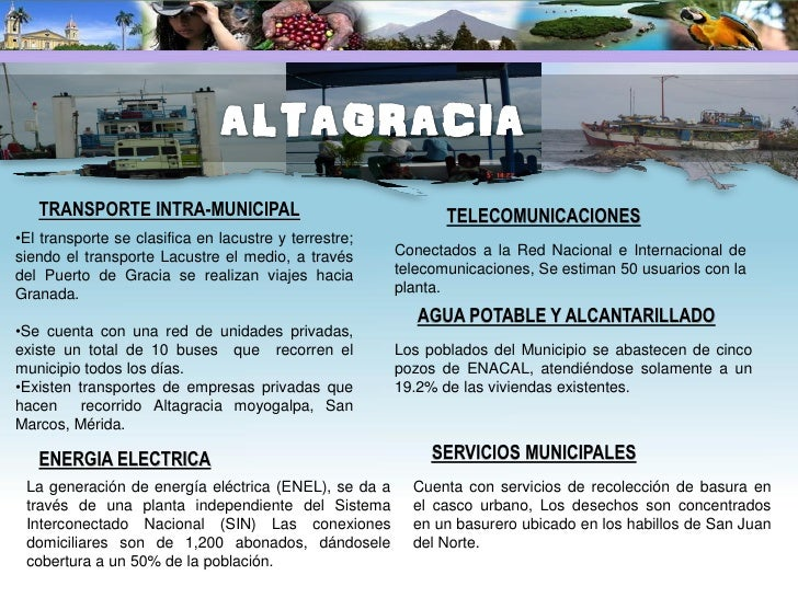 TRANSPORTE INTRA-MUNICIPAL                           AGUA POTABLE Y ALCANTARILLADO •Dispone de una buena articulación vial...