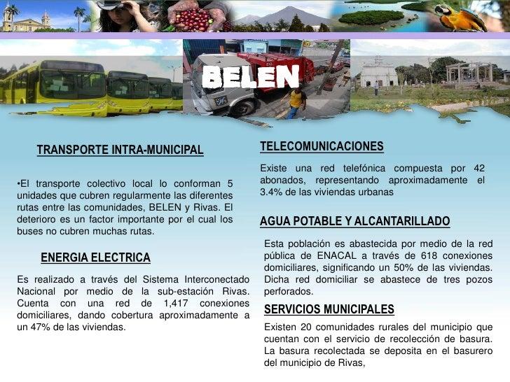 TRANSPORTE INTRA-MUNICIPAL                             ECONOMIA Y PRODUCCION La infraestructura vial urbana la constituyen...