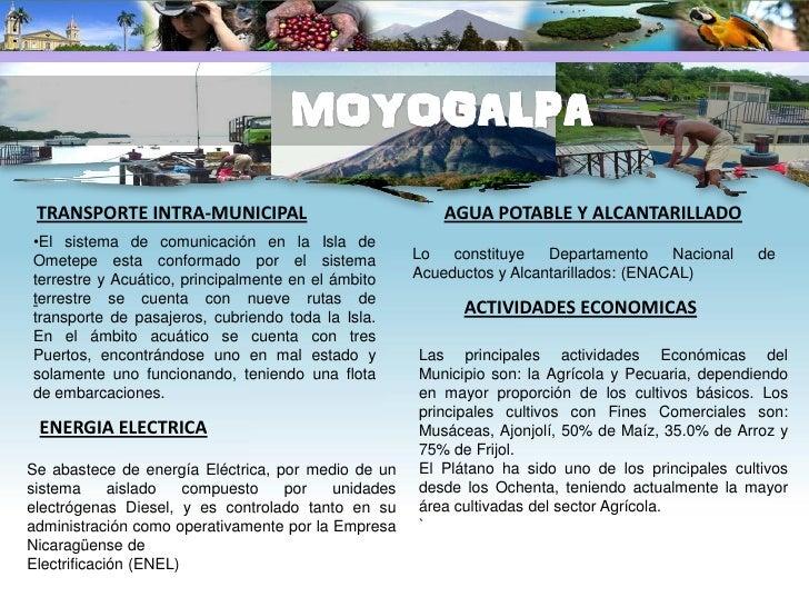 TRANSPORTE                                              AGUA POTABLE Y ALCANTARILLADO El transporte colectivo del municipi...