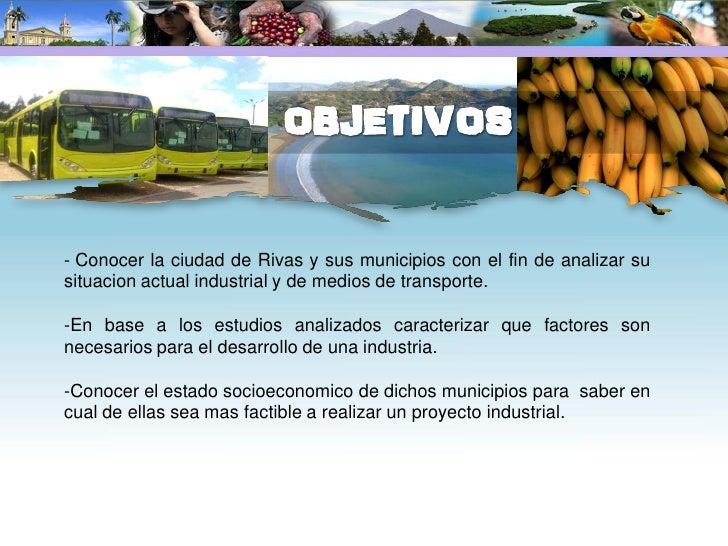 El Municipio y Departamento de Rivas esta localizada en la macro región del Pacifico, que cubre aproximadamente el 15% del...