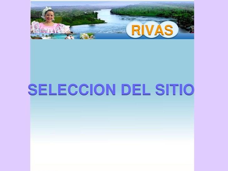 RIVAS    ESTUDIO DE RELACIONES Y      ZONIFICACION