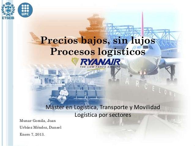 Precios bajos, sin lujos            Procesos logísticos                 Máster en Logística, Transporte y Movilidad       ...