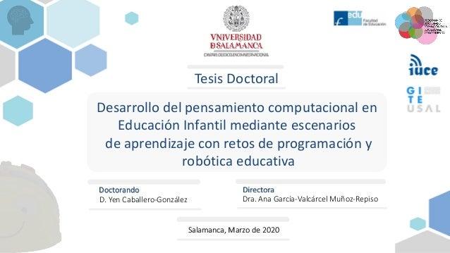 Desarrollo del pensamiento computacional en Educación Infantil mediante escenarios de aprendizaje con retos de programació...