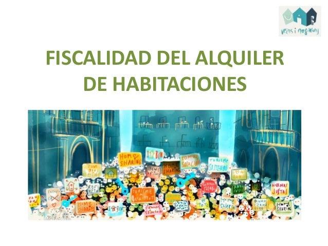 FISCALIDAD DEL ALQUILER DE HABITACIONES