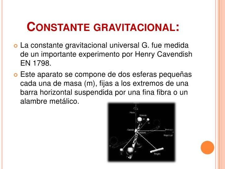 Resultado de imagen de La constante Gravitacional