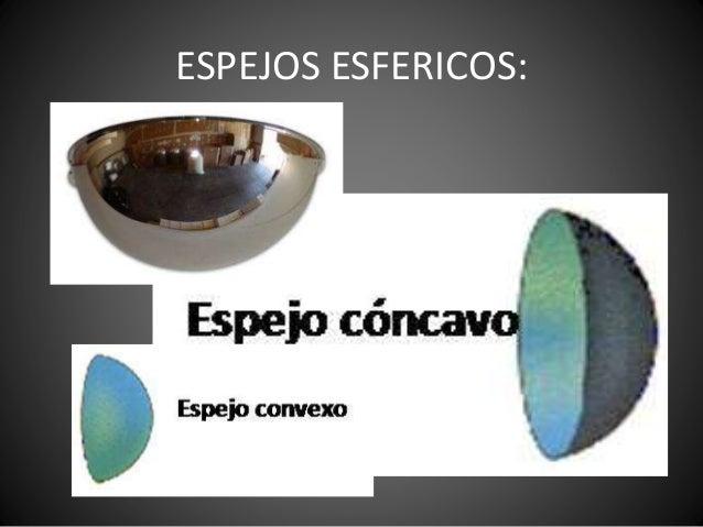 Presentacion fisica daniela for Espejos esfericos convexos