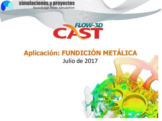 Aplicación: FUNDICIÓN METÁLICA Julio de 2017