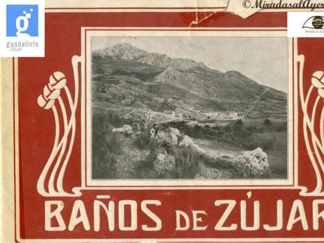Presentacion folleto antiguo de los ba os de z jar granada - Banos de zujar ...
