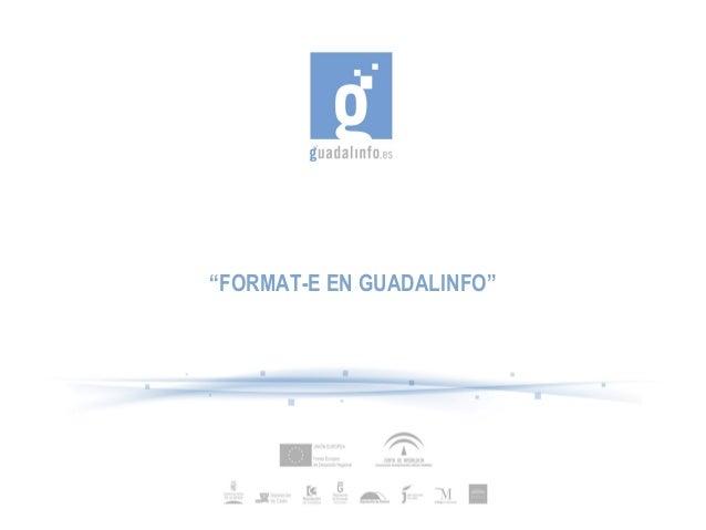 """""""FORMAT-E EN GUADALINFO"""""""