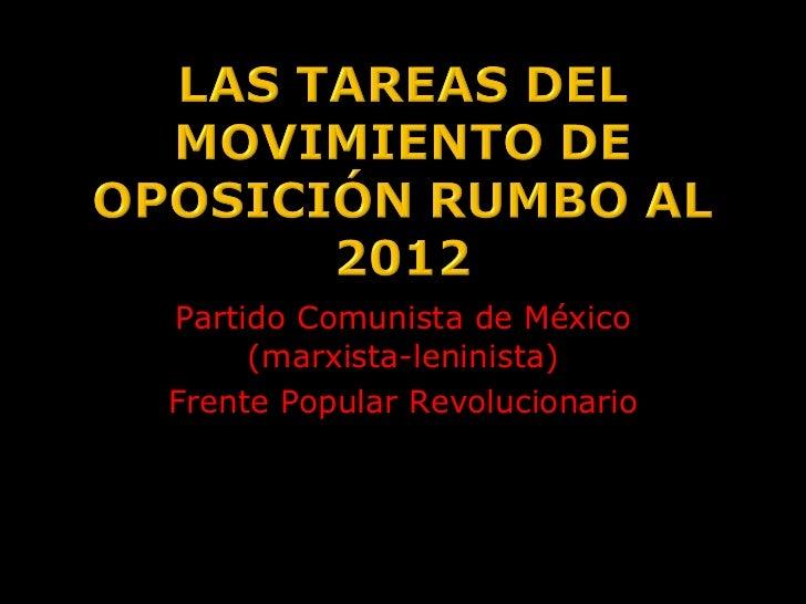 Partido Comunista de México (marxista-leninista) Frente Popular Revolucionario