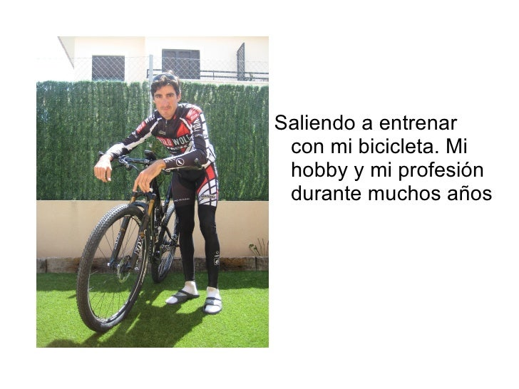 Saliendo a entrenar con mi bicicleta. Mi hobby y mi profesión durante muchos años