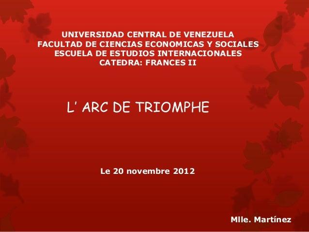 UNIVERSIDAD CENTRAL DE VENEZUELAFACULTAD DE CIENCIAS ECONOMICAS Y SOCIALES   ESCUELA DE ESTUDIOS INTERNACIONALES          ...