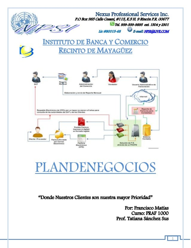 Nexus Professional Services Inc.                P.O Box 985 Calle Cesaní, #115, K.5 H. 9 Rincón P.R. 00677                ...