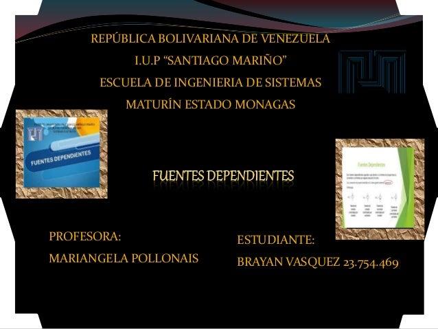 "REPÚBLICA BOLIVARIANA DE VENEZUELA I.U.P ""SANTIAGO MARIÑO"" ESCUELA DE INGENIERIA DE SISTEMAS MATURÍN ESTADO MONAGAS ESTUDI..."