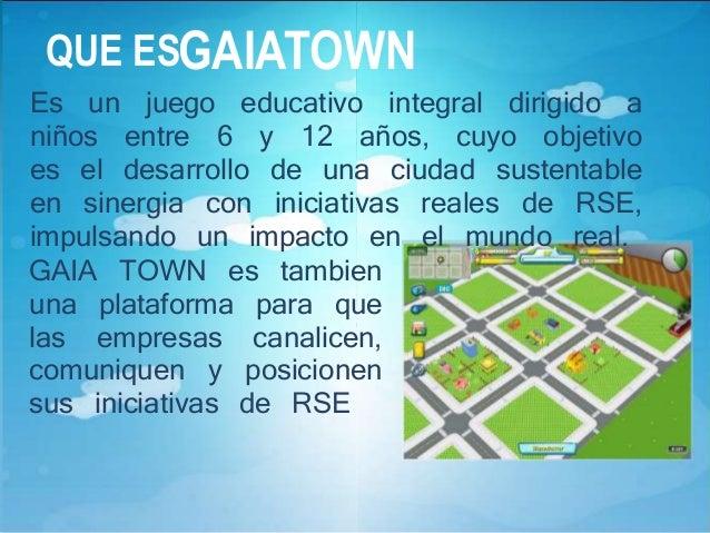 GAIATOWNY LOS NIñOS  GAIA TOWN  presenta a los niños  un ambiente muy  atractivo, lúdico y  didáctico, donde  debe crear y...