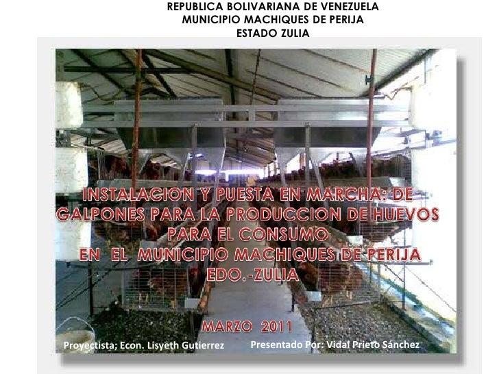 REPUBLICA BOLIVARIANA DE VENEZUELA                         MUNICIPIO MACHIQUES DE PERIJA                                  ...