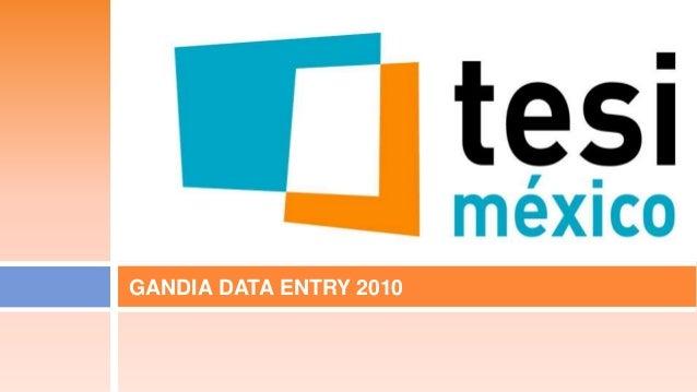 GANDIA DATA ENTRY 2010