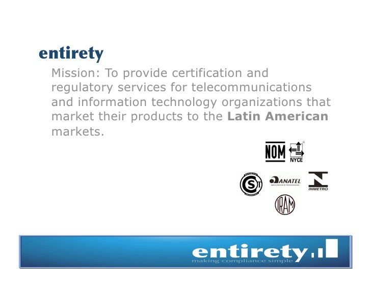 Entirety Llc Fast Track Certifications In Latin America