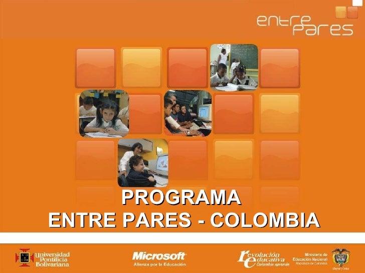 PROGRAMA  ENTRE PARES - COLOMBIA