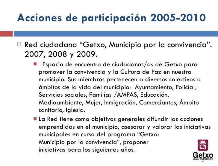 Getxo: municipio por la convivencia