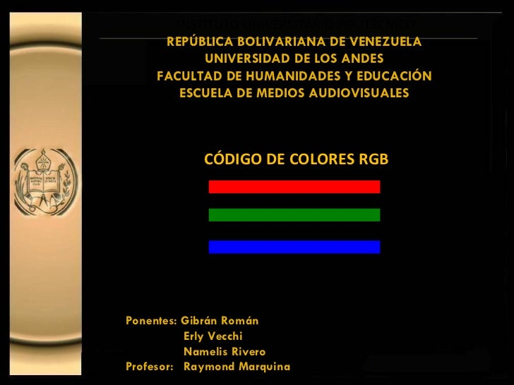 INSTITUTO UNIVERSITARIO POLITÉCNICO REPÚBLICA BOLIVARIANA DE VENEZUELA UNIVERSIDAD DE LOS ANDES FACULTAD DE HUMANIDADES Y ...