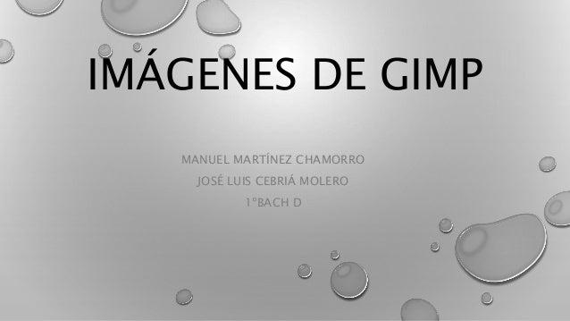 IMÁGENES DE GIMP MANUEL MARTÍNEZ CHAMORRO JOSÉ LUIS CEBRIÁ MOLERO 1ºBACH D