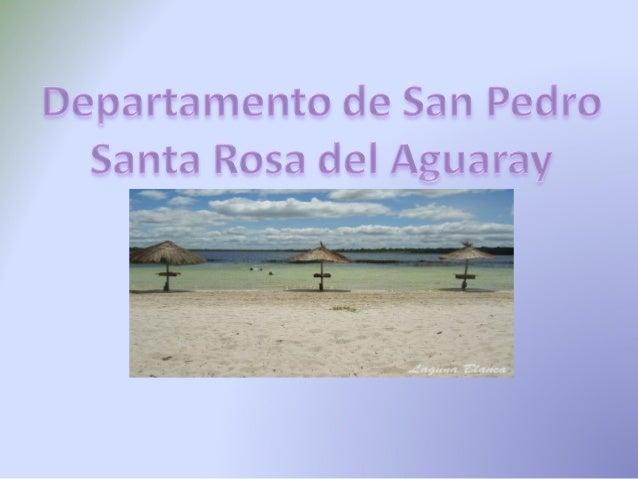Departamento de San Pedro  Santa Rosa del Aguarav