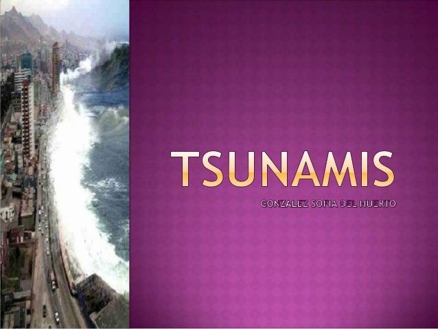  Los  tsunamis habitualmente se componen de una serie de olas, llamadas tren de olas, por lo que su fuerza destructiva pu...