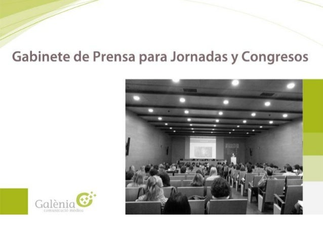 Presentacion gabinete de prensa:Jornadas_congresos