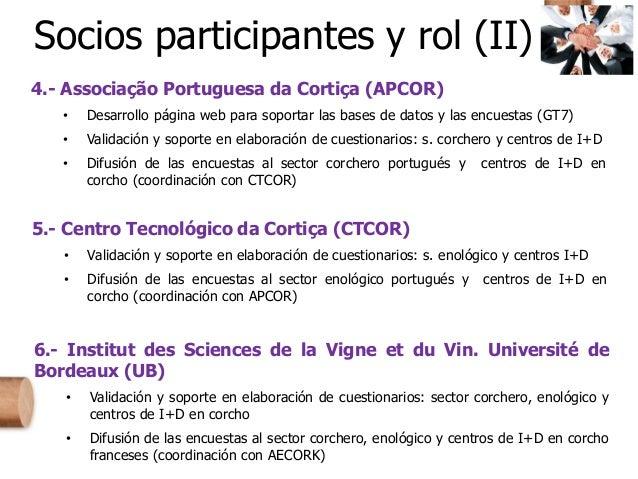 4.- Associação Portuguesa da Cortiça (APCOR) • Desarrollo página web para soportar las bases de datos y las encuestas (GT7...