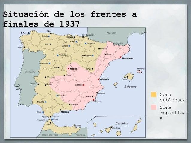 El fin de la guerraDespués de la ocupación deCataluña a la República solo lequedaba el territorio del centroy sur-este de ...