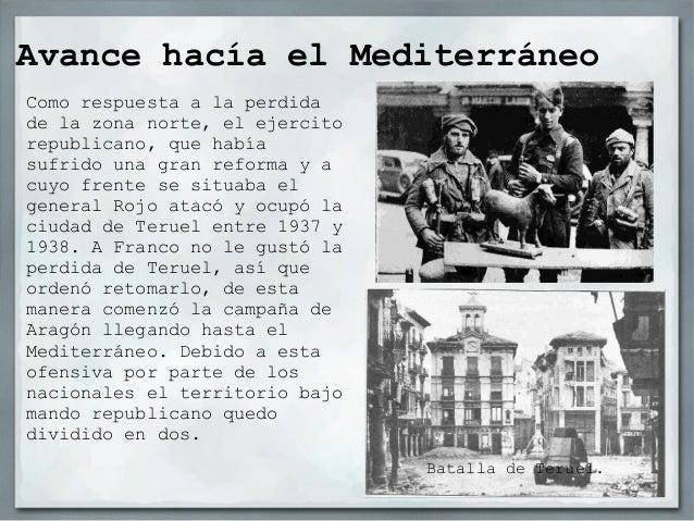 Situación de los frentes en marzo de1939                               Zona                               sublevada       ...