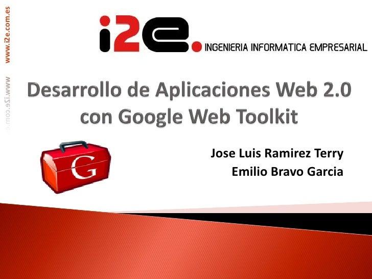 www.i2e.com.es                 Jose Luis Ramirez Terry                    Emilio Bravo Garcia