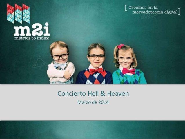 Fuente: Metrics to Index – 2013. *Rating Digital ® Concierto Hell & Heaven Marzo de 2014