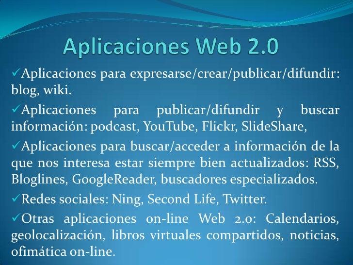 Todo (usuario y contenidos) se puede interconectar entre si: red