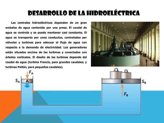 DESARROLLO DE LA HIDROELÉCTRICA Las centrales hidroeléctricas dependen de un gran embalse de agua contenido por una presa....