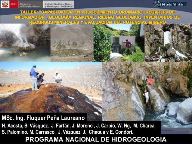 MSc. Ing. Fluquer Peña Laureano H. Acosta, S. Vásquez, J. Farfán, J. Moreno , J. Carpio, W. Ng, M. Charca, S. Palomino, M....