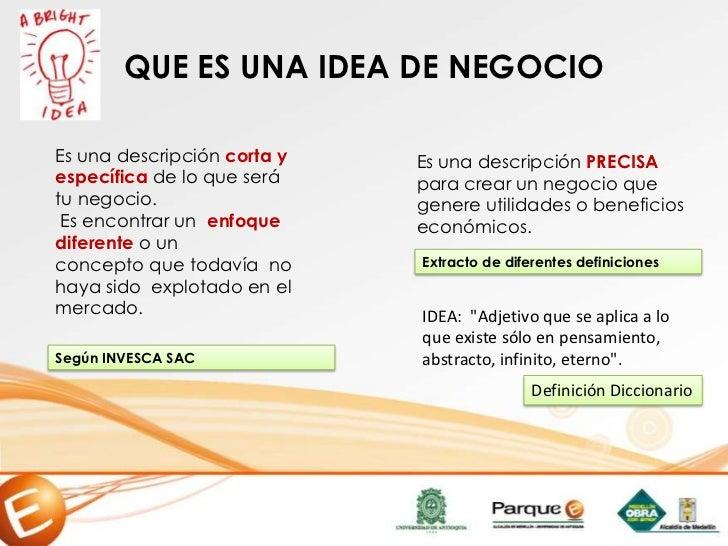 Presentacion ideas de negocios