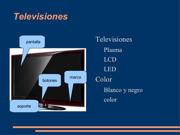 Televisiones <ul><li>Televisiones </li><ul><li>Plasma