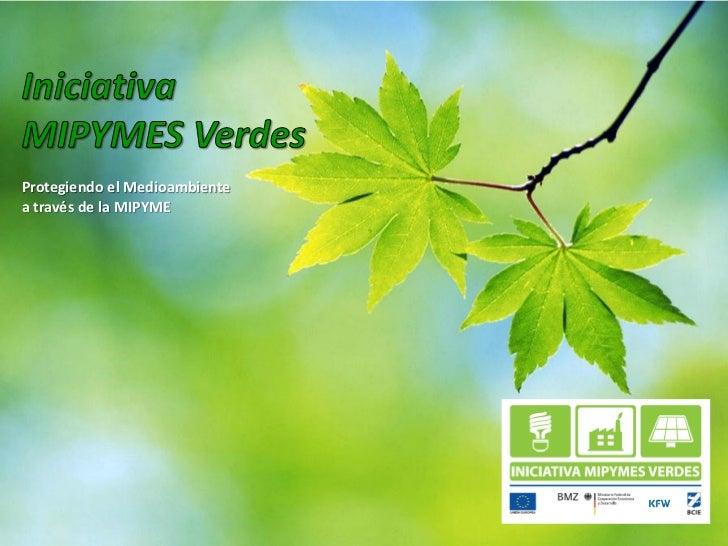 Protegiendo el Medioambientea través de la MIPYME