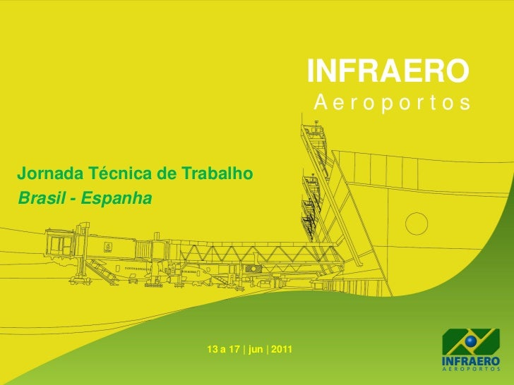 INFRAERO                                            AeroportosJornada Técnica de TrabalhoBrasil - Espanha                 ...