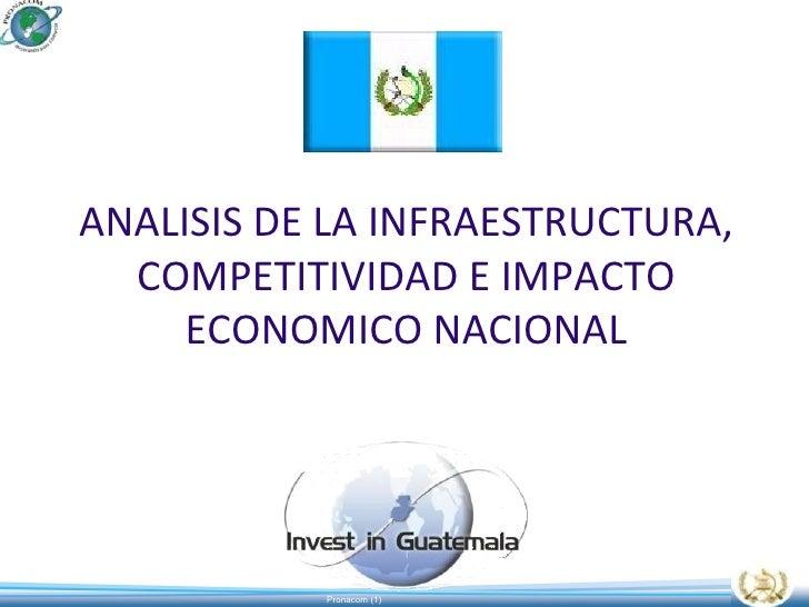 ANALISIS DE LA INFRAESTRUCTURA, COMPETITIVIDAD E IMPACTO ECONOMICO NACIONAL